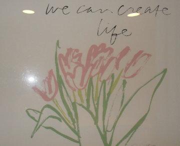 We Can Create Life Not War (CROCUSES) HS Limited Edition Print - Mary Corita Kent