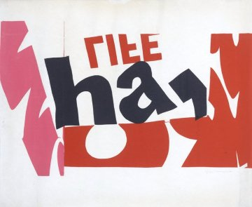 Ha, Life 1966 Limited Edition Print - Mary Corita Kent