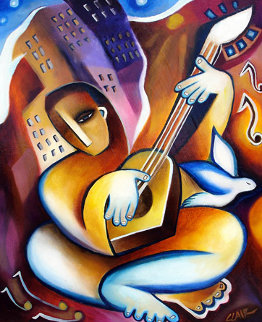 Guitar Player Limited Edition Print by Stephanie Clair