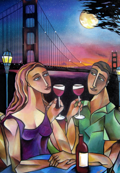 Golden Gate Romance 30x22 Limited Edition Print by Stephanie Clair