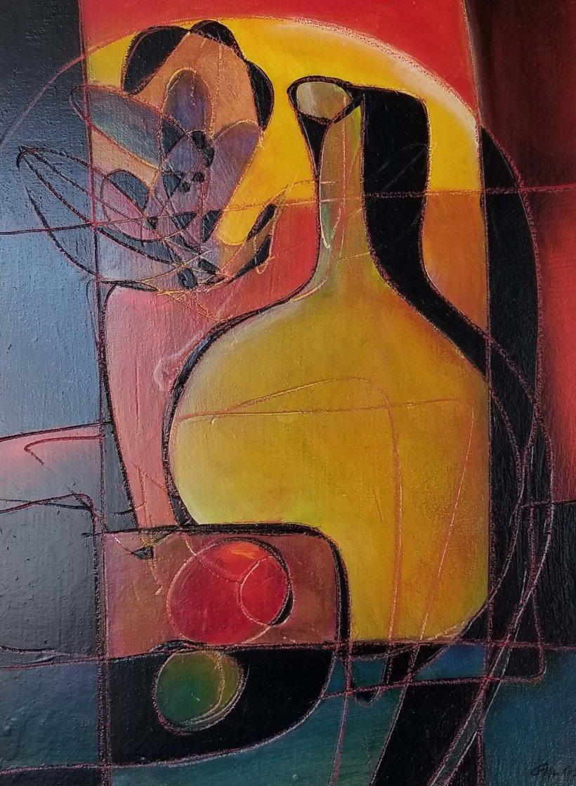 Yellow Jug 32x26 Original Painting by Jean Claude Gaugy
