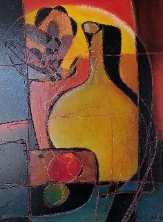 Yellow Jug 32x26 Original Painting by Jean Claude Gaugy