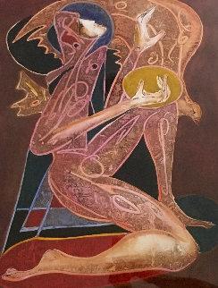 Karma 1996 32x34 Original Painting by Jean Claude Gaugy
