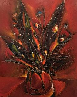 Etude Floral 2002 72x60 Original Painting - Jean Claude Gaugy
