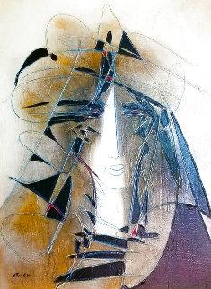 Untitled Painting 2012 23x29 Original Painting - Jean Claude Gaugy
