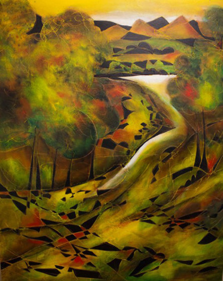 La Riviere 2007 60x48 Original Painting by Jean Claude Gaugy