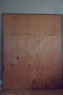 Untitled Painting on carved wood 1974   60x48 Super Huge Original Painting by Jean Claude Gaugy - 11
