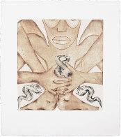 Geography Suite of 4 1992 Limited Edition Print by Francesco Clemente - 2