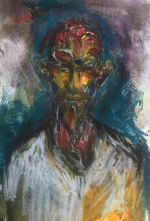 Mystery Man Watercolor 2016 25x18 Watercolor - Clive Barker