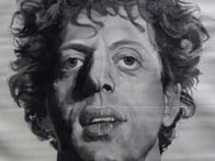 Phil (Silk Tapestry) 1991 Phil Glass 51x38 Huge Tapestry by Chuck Close - 1