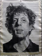 Phil (Silk Tapestry) 1991 Phil Glass 51x38 Huge Tapestry by Chuck Close - 0