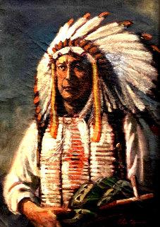 American Indian Chief 1955 16x20 Original Painting - John Clymer