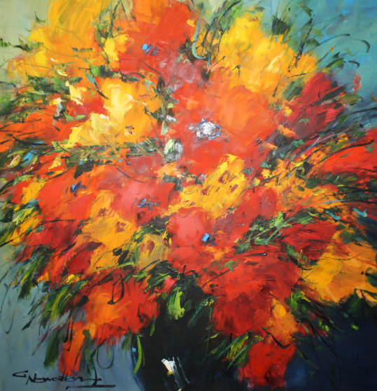 Red and Yellow III  Original Painting by Christian Nesvadba