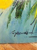 Yellow Bloom 2006 36x44 Super Huge Original Painting by Christian Nesvadba - 1