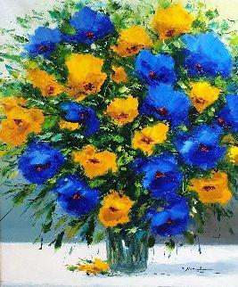 In Bloom 2006 27x23 Original Painting - Christian Nesvadba
