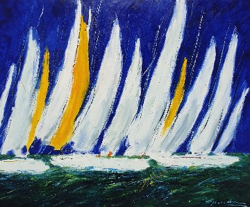 Regatta 2006 35x44 Original Painting - Christian Nesvadba