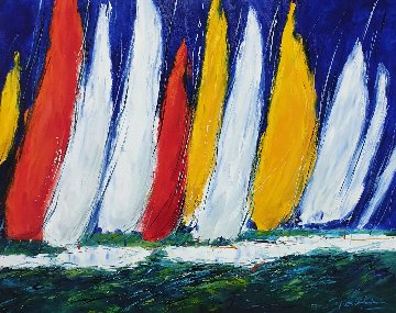 Sailing 2006 32x40 Super Huge Original Painting - Christian Nesvadba