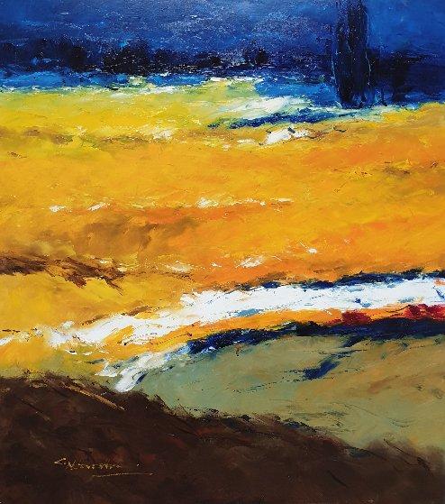 Sunlit Landscape 2006 36x32 Original Painting by Christian Nesvadba