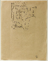 Sailor's Embrace Drawing 1924 15x17 Drawing by Jean Cocteau - 1