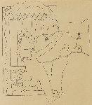 Sailor's Embrace Drawing 1924 15x17 Drawing - Jean Cocteau