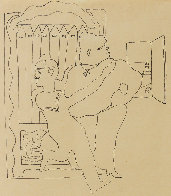 Sailor's Embrace Drawing 1924 15x17 Drawing by Jean Cocteau - 0