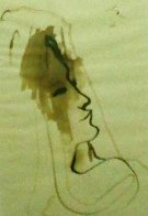 Untitled Drawing 1936 20x15 Drawing by Jean Cocteau - 0