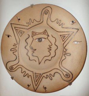 Hommage Aux Etrusques Terracotta 1958 Other - Jean Cocteau