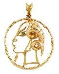 Capricorn Gold 18k Gold Pendant From Zodiac 1950 2 in Jewelry - Jean Cocteau