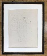 Robes Du Soir Sur Fond Etoile 1935 25x20 Drawing by Jean Cocteau - 2