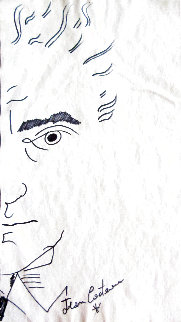 Self Portrait 12x7 Drawing - Jean Cocteau