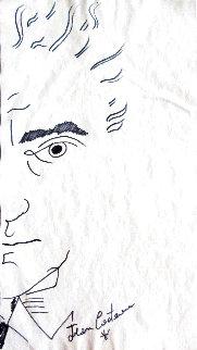 Self Portrait 12x7 Drawing - Jean Cocteau