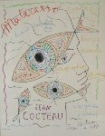 Matarasso Gallery Exhibition Poster Nice, France 1957 Limited Edition Print - Jean Cocteau