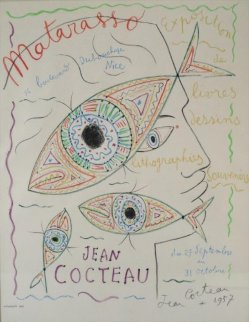 Matarasso Gallery Exhibition Poster Nice, France 1957 Limited Edition Print by Jean Cocteau
