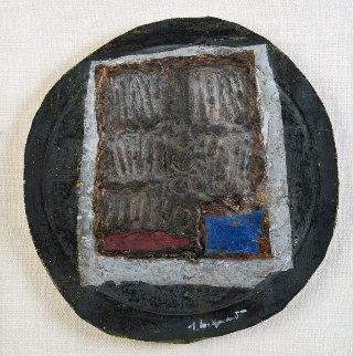 Structure Au Bleu 1970 24x23 Original Painting - James Coignard