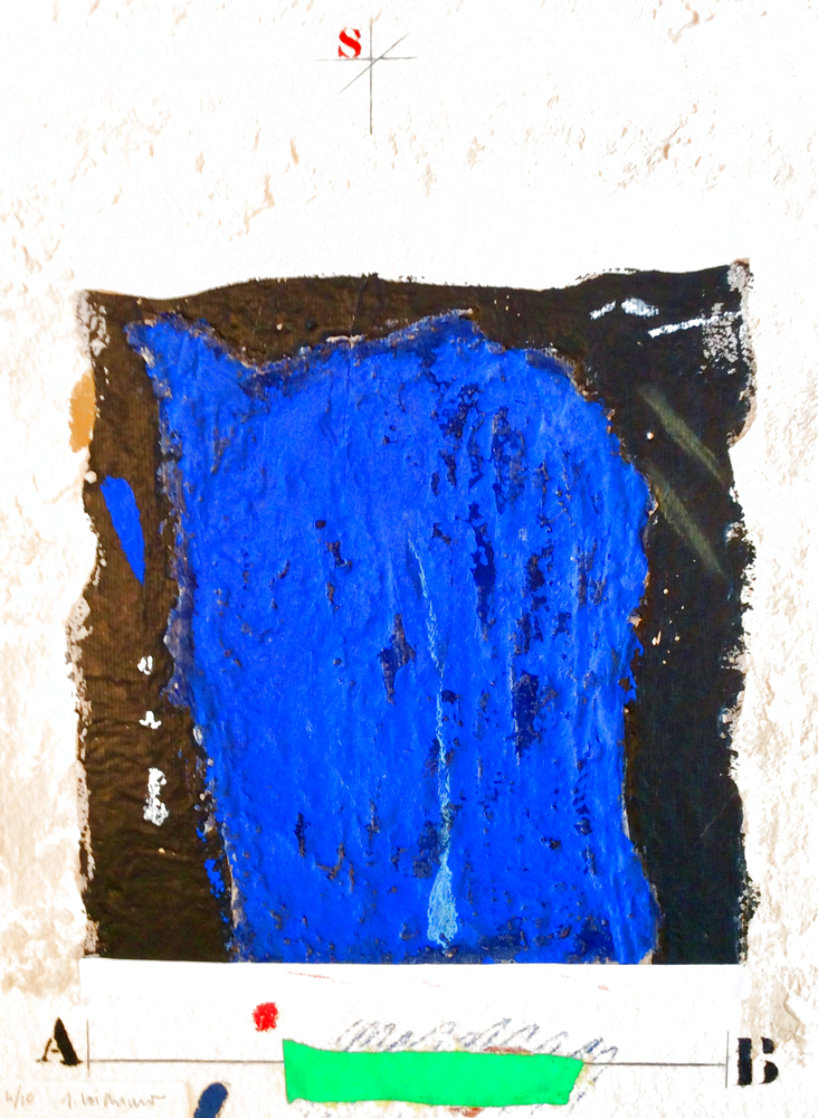 Etude Masse Bleue Limited Edition Print by James Coignard