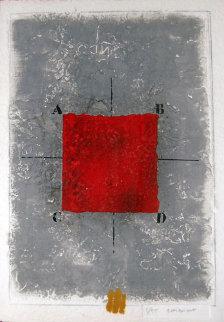 Les Positionments Rouge Limited Edition Print - James Coignard