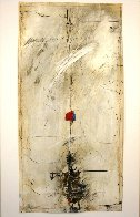 Untitled Collage on Paper 1972 31x15 Original Painting by James Coignard - 3