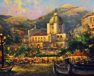 Positano  2008 38x32 Original Painting - James Coleman