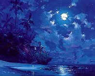 Midnight Surf 1990 Embellished Limited Edition Print by James Coleman - 0