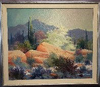 Sonoran Desert 1989 37x43 Super Huge Original Painting by James Coleman - 1