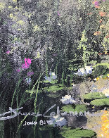 Low Lying Lilies 2009 28x34 Original Painting by James Coleman - 3