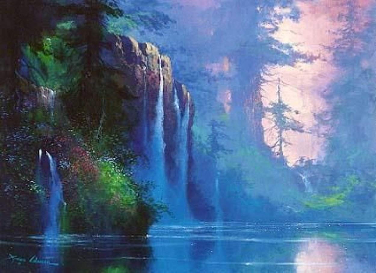 Mountain Waterfall 1995 Limited Edition Print by James Coleman