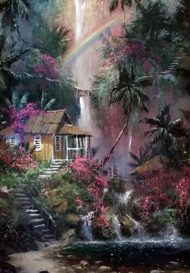 Rainbow Falls AP 2004 Embellished Limited Edition Print by James Coleman