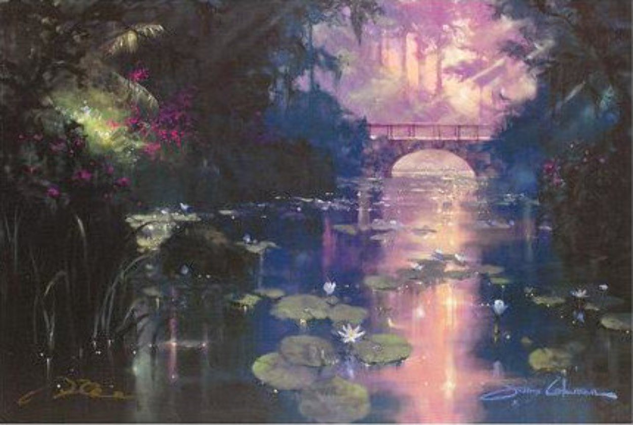 Bridge Over Silent Water (#1) 1999 41x49 Super Huge  Limited Edition Print by James Coleman