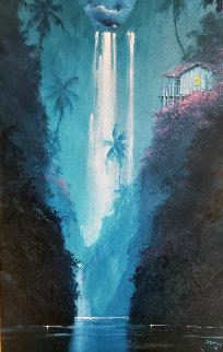 Evening Paradise 2003 44x32 Huge  Original Painting - James Coleman