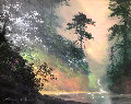 Serenity in the Mist 24x28 Original Painting - James Coleman