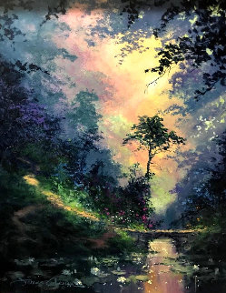 Secluded Path 28x24 Original Painting by James Coleman