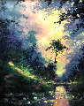 Secluded Path 28x24 Original Painting - James Coleman