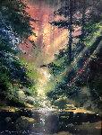Ray of Light 21x18 Original Painting - James Coleman