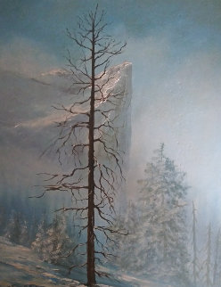 Untitled (Yosemite Landscape) 36x30 Original Painting - James Coleman